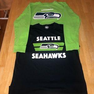 2 Men's Seattle Seahawks shirts M